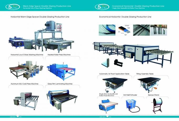 Curtain Wall Double Glazing Equipment , Insulated Glass Machine With Touch Screen Operation