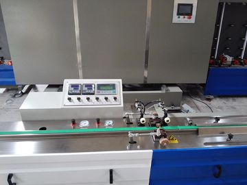 China Touch Screen Butyl Extruder Machine , Butyl Sealant Coating Double Glazing Glass Machine distributor