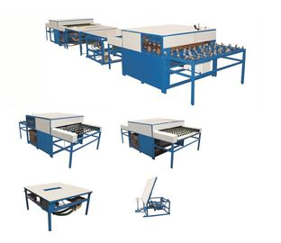 China Warm Edge Double Glazing Machinery , Glass Production Line 5 Pairs distributor