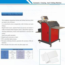China Hardcover Paper Photo Maker Machine Creasing and Folding Equipment factory
