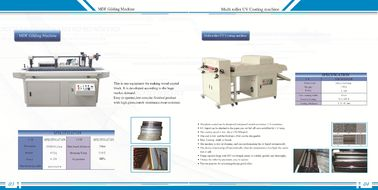 China 2 In1 Semi - Automatic Paper Gluing Machine , Edge Polishing Machine 2.5KW Power factory