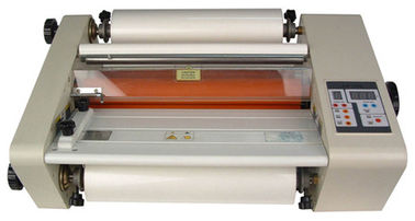 China Hot Roll Lamination Machine / Hot Roller Laminator for Cold Hot Laminating Film factory