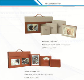 China Customized  Leather Album Cover with Suitcase /  PU Album Covers factory