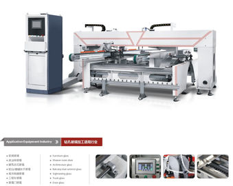 China Conveyor Double Heads Glass Drilling Machine For Automobile Glass , Stable Operation factory