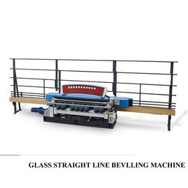 China Automatic Straight Line Glass Beveller Edge Cutting Grinding Polish Machine,Glass Straight Line Beveling Machine distributor